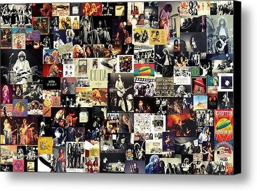 Taylan Soyturk - Led Zeppelin Collage Print