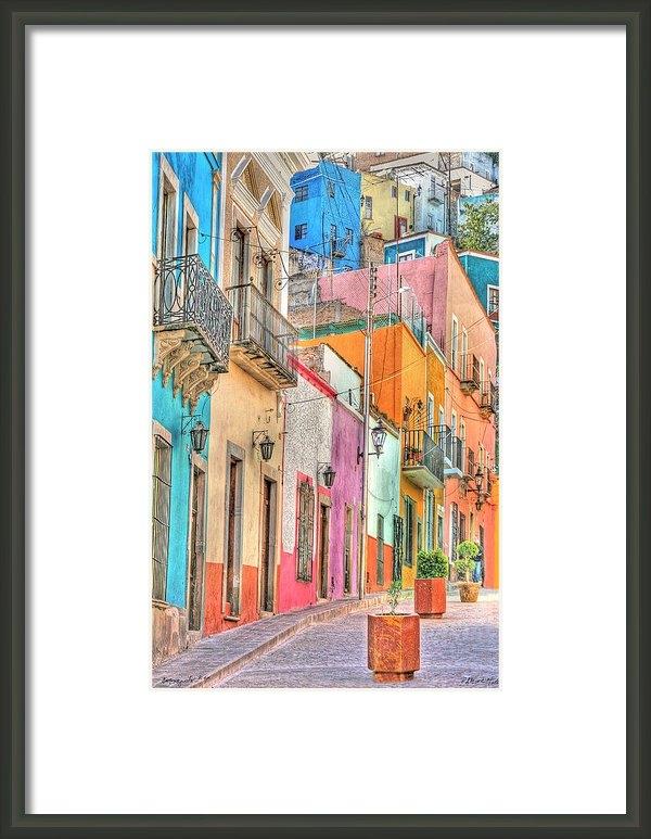 Pat  Moore - Colorful Courtyard Guanaj... Print