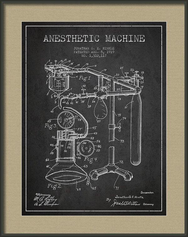 Aged Pixel - Anesthetic Machine patent... Print