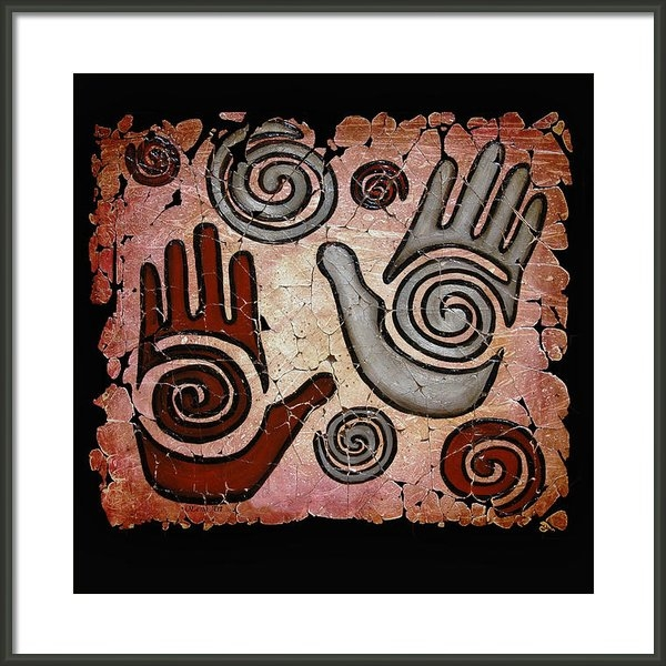 OLena Art - Healing Hands fresco Print