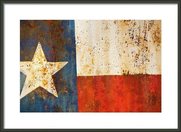Mark Weaver - Rusty Texas Flag Rust And... Print
