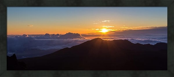 Pierre Leclerc Photography - Sunrise at the summit of ... Print