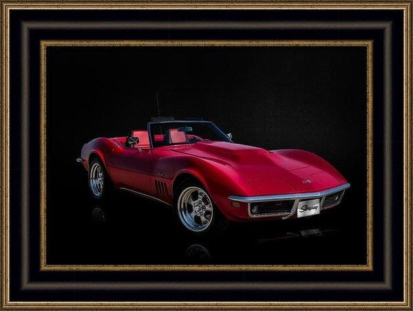 Douglas Pittman - Classic Red Corvette Print