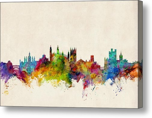 Michael Tompsett - Cambridge England Skyline Print