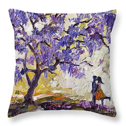 Ginette Fine Art LLC Ginette Callaway - Love Under The Jacaranda ... Print
