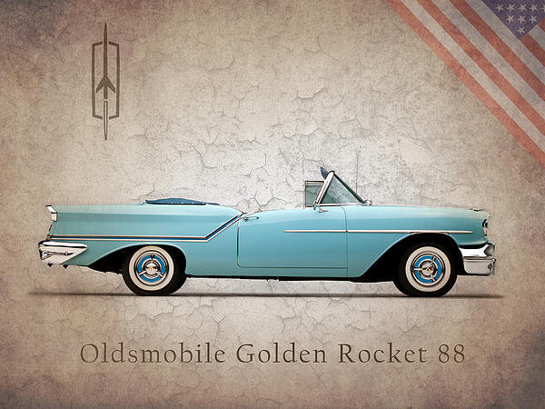 Mark Rogan - Oldsmobile Golden Rocket ... Print
