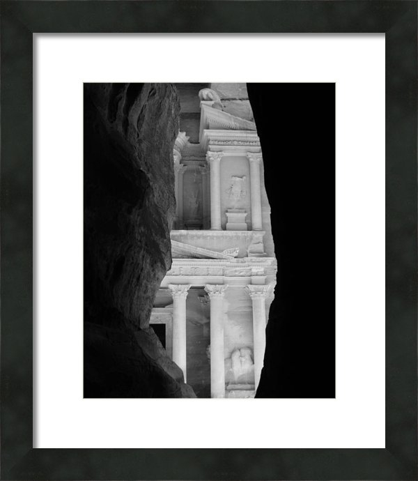 Thomas Preston - PETRA TREASURY bw Print