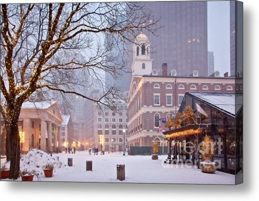 Susan Cole Kelly - Faneuil Hall in Snow Print