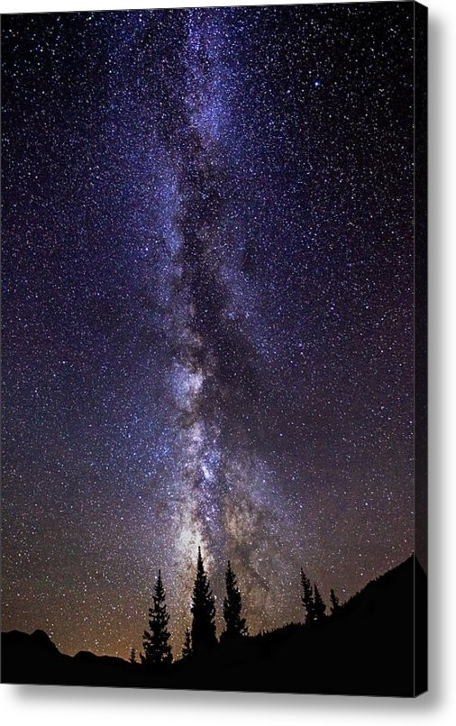 Darren  White - Red Mountain Milky Way Print