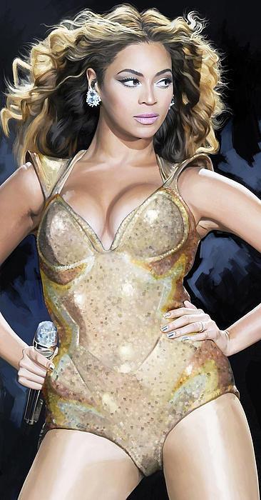 Sheraz A - Beyonce Artwork Print