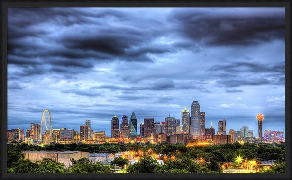 Shawn Everhart - Dallas Skyline Print