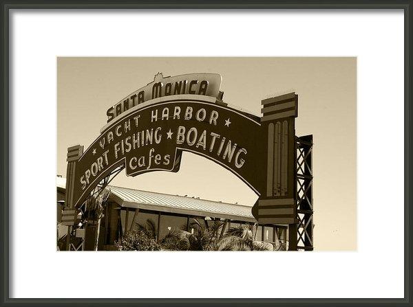 David Millenheft - Santa Monica Pier Sign Print