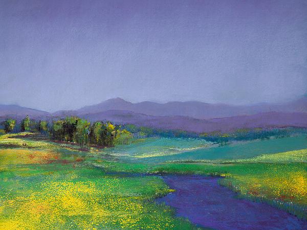 David Patterson - Hills in Bloom Print