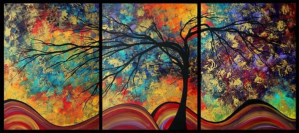 Megan Duncanson - Abstract Art Original Lan... Print