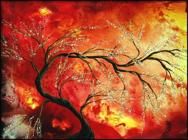 Megan Duncanson - Abstract Art Floral Tree ... Print