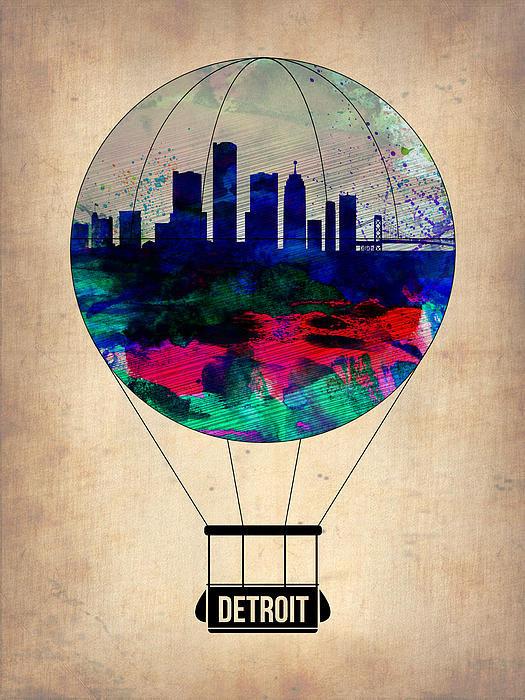 Naxart Studio - Detroit Air Balloon Print