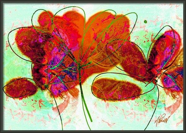 Ann Powell - Joy flower abstract Print