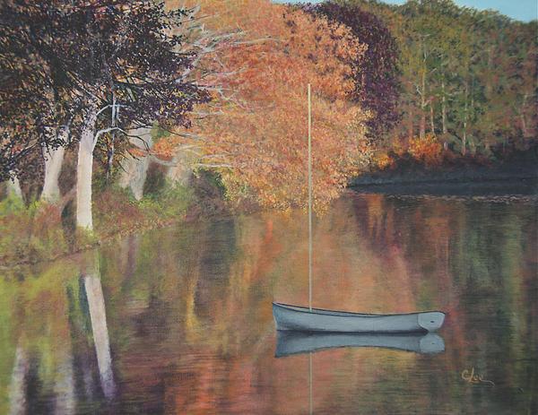 Cindy Lee Longhini - Autumn in Hamburg Cove Print