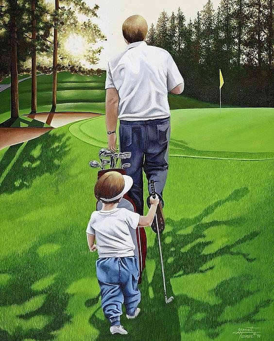 Nancy M Garrett - First Tee Off Print
