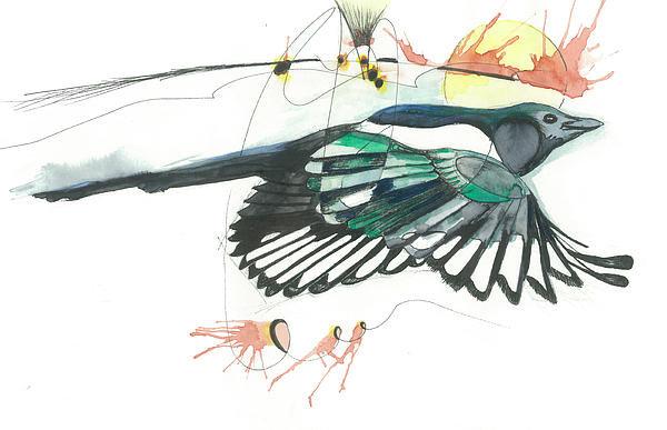 Gregory Ellis - Magpie Print