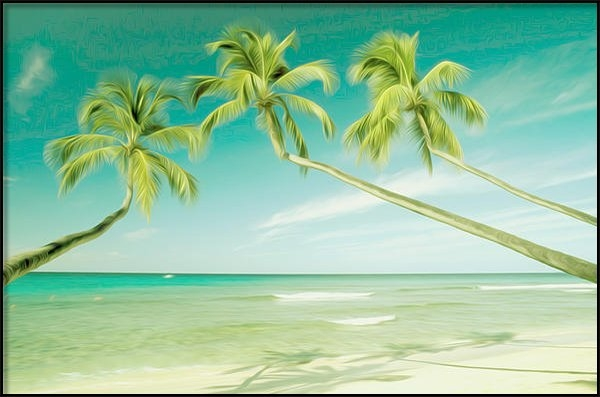 Lanjee Chee - Tropical sea and beach wi... Print