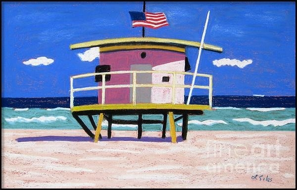 Lesley Giles - Miami Pink Hut Print