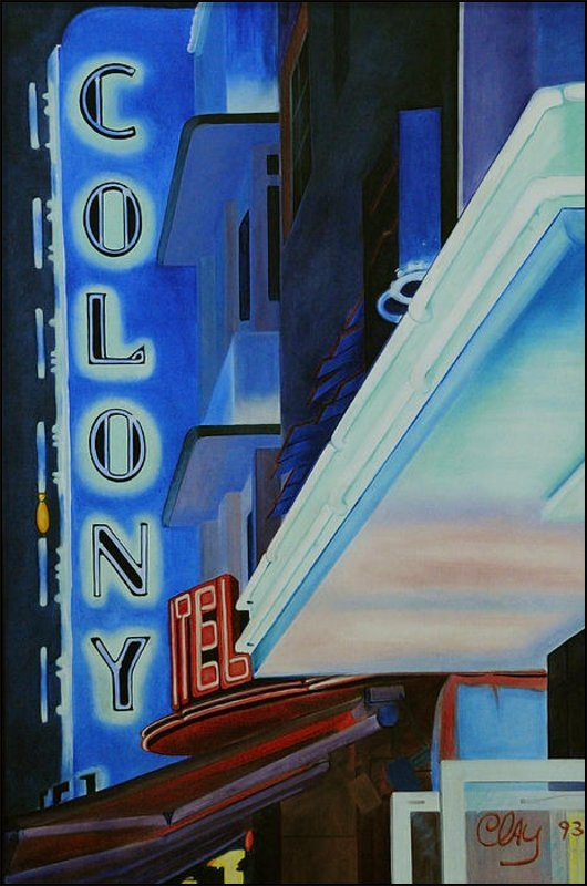 Clay Coyle - Colony Hotel Print