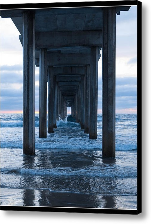 Yolanda Bell - Underneath Scripps Pier Print