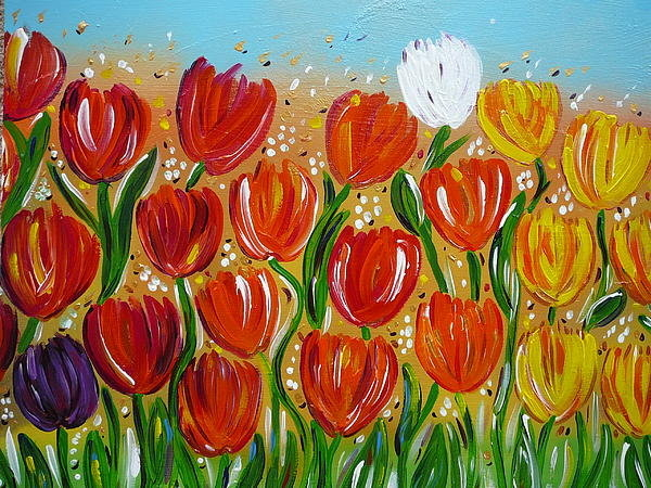 Gioia Albano - Les tulipes - The tulips Print