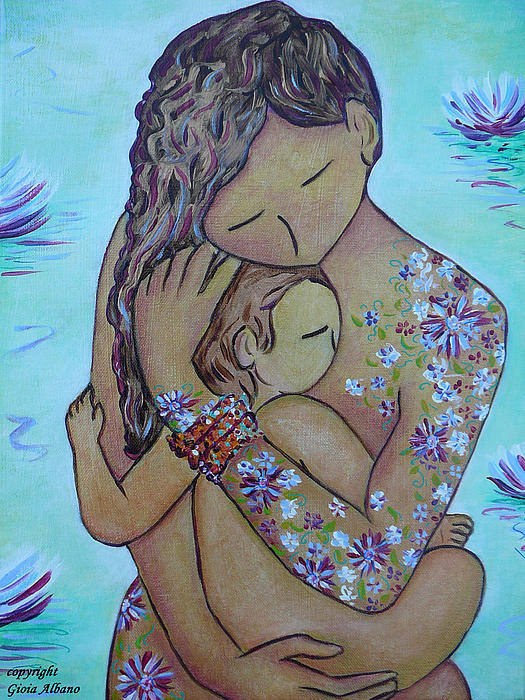 Gioia Albano - Motherhood Flowers All Ov... Print