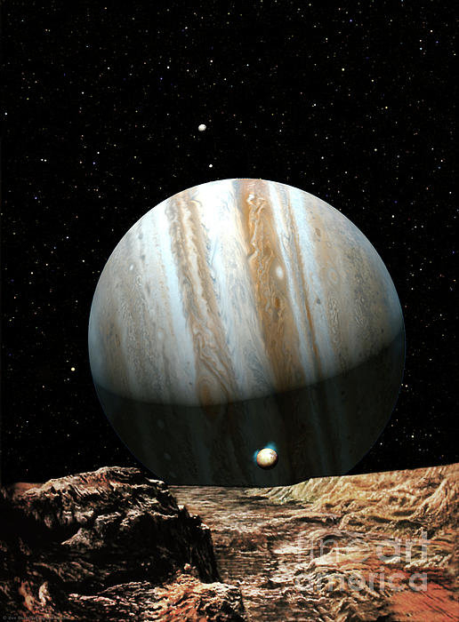 Don Dixon - Jupiter Seen From Europa Print