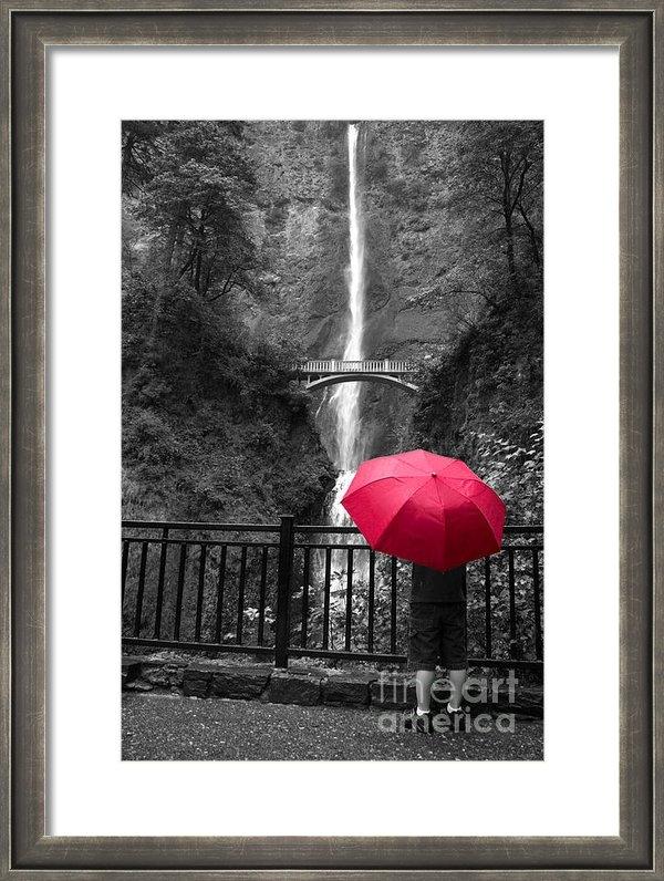 Tina Miller - Red Umbrella Print