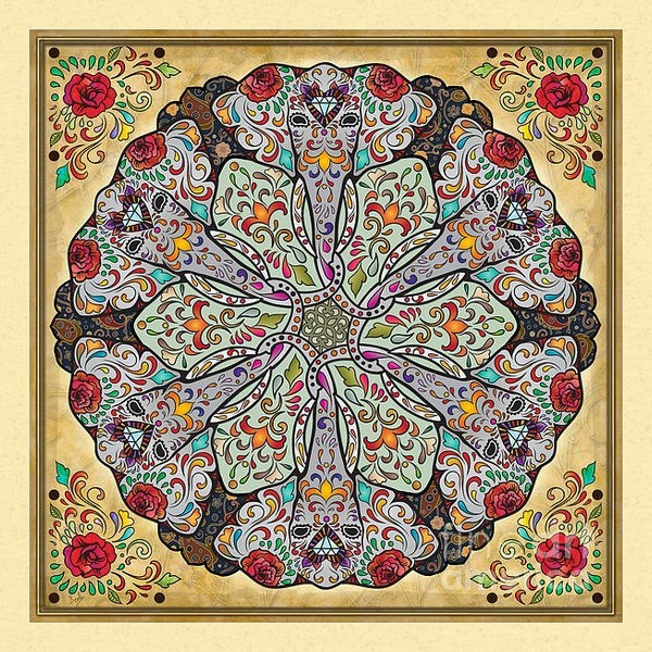 Bedros Awak - Mandala Elephants Print