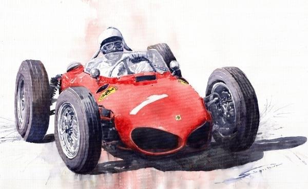 Yuriy  Shevchuk - Ferrari Dino 156 F1 1961  Print