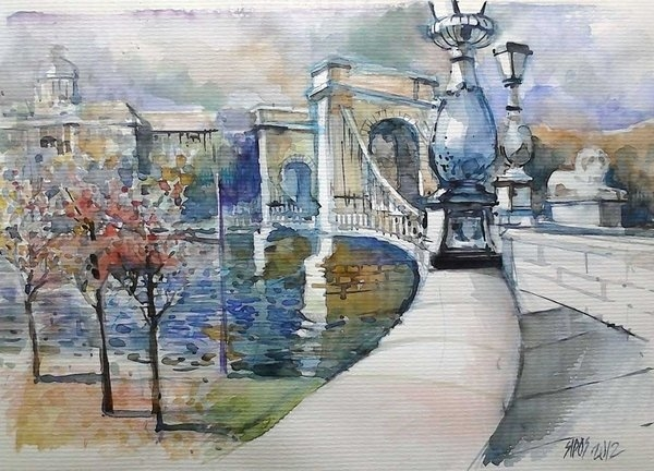 Lorand Sipos - Budapest the Chain Bridge Print