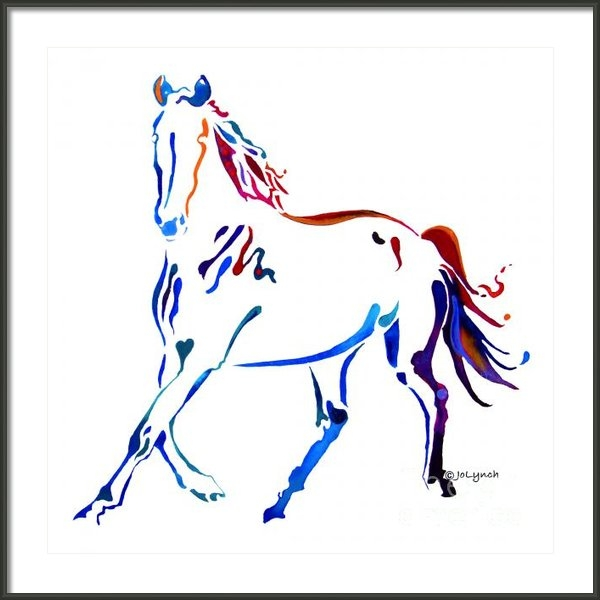 Jo Lynch - Horse of many Colors Print