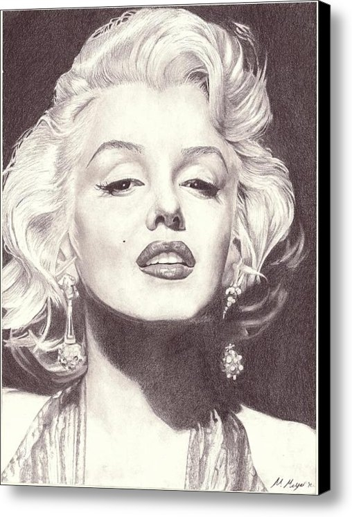 Matt Meyer - Marilyn Monroe Portrait D... Print