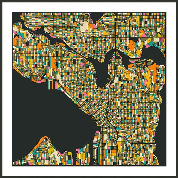 Jazzberry Blue - Seattle Map Print