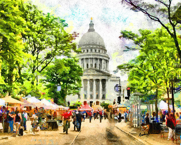 Anthony Caruso - Saturday in Madison Print