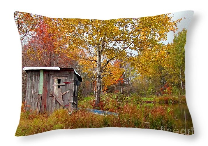 Ida Knuuttila - Fall Shack by Pond Print