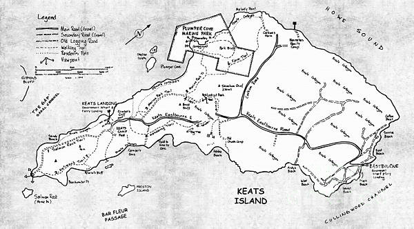 Sharon Cummings - Keats Island Map - Canadi... Print