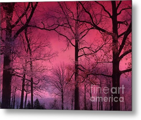 Kathy Fornal - Surreal Dark Pink Fantasy... Print