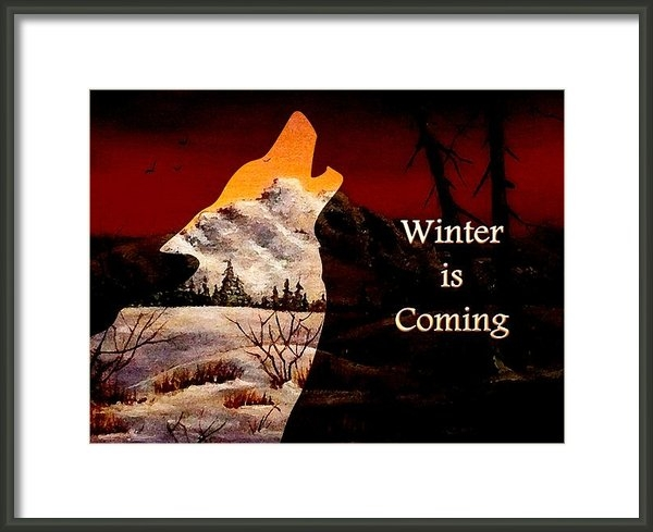Anastasiya Malakhova - Winter is Coming Print
