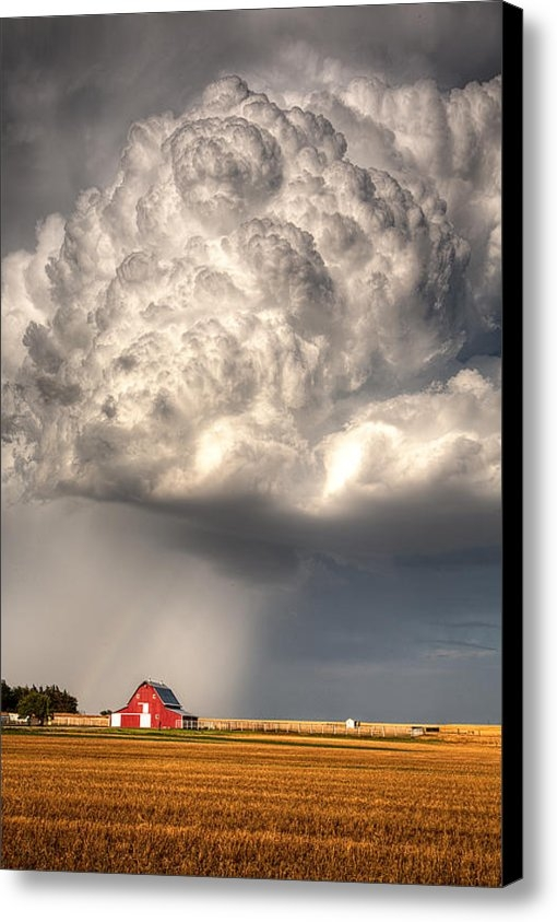 Thomas Zimmerman - Stormy Homestead Barn Print
