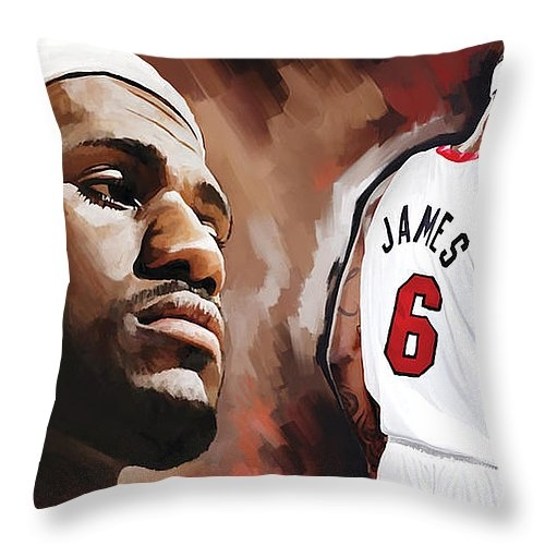 Sheraz A - LeBron James Artwork 2 Print