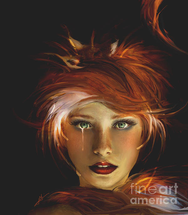 Jaimy Mokos - Untamed The Redhead and t... Print