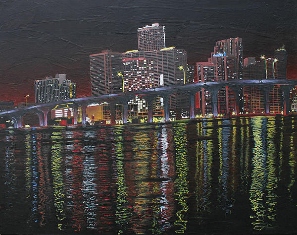 Maxwell Hanson - Miami at Night Print
