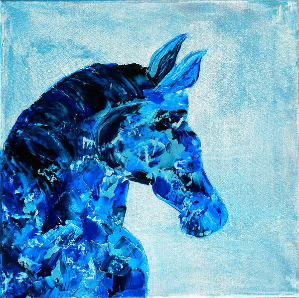Holly Anderson - Abstract Horse Painting Print