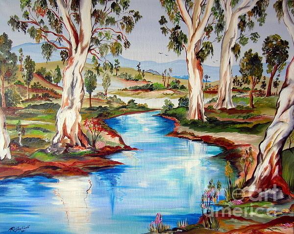 Roberto Gagliardi - Peaceful River In The Aus... Print