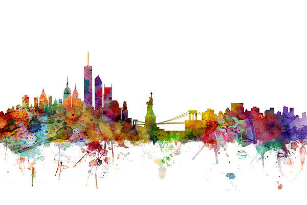 Michael Tompsett - New York Skyline Print